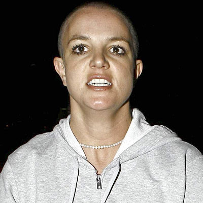 britney spears bald
